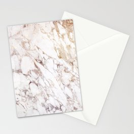 White Onyx Marble Stationery Cards
