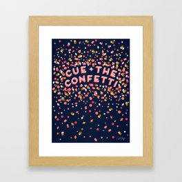 Cue the Confetti – Navy Palette Framed Art Print
