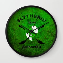 Slytherin Quidditch Team Wall Clock