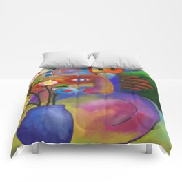 Musician and Flowers Comforters
