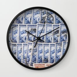 Stamps Texture #5 Wall Clock