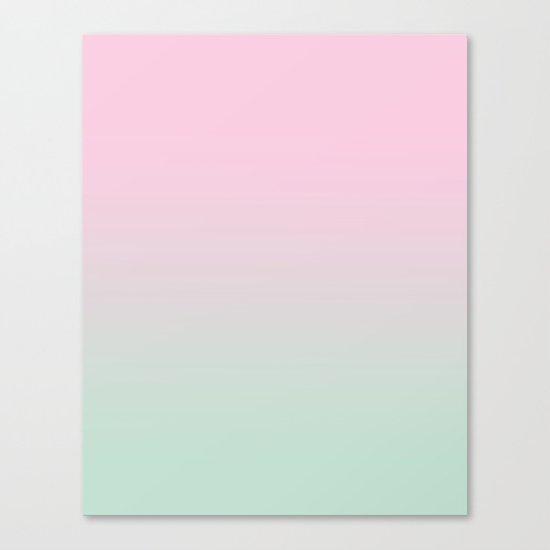 Keelee - ombre pastels minimal canvas art painting sunset nursery baby room art Canvas Print