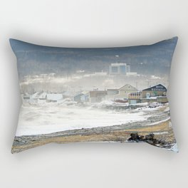 The Sea and the Cove Rectangular Pillow