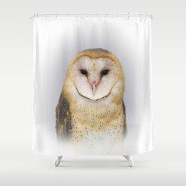 Portrait of a Barn Owl Shower Curtain
