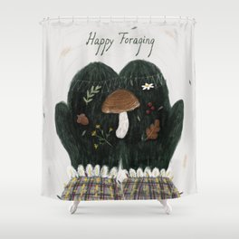 Happy Foraging Shower Curtain