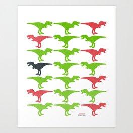 Dinomania B Art Print
