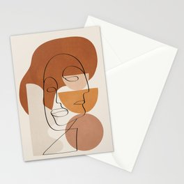 Abstract Clay Faces II Stationery Cards