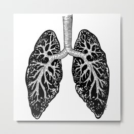 Corrupted Lungs Metal Print
