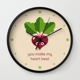 You Make My Heart Beet Wall Clock