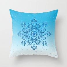 Snowflake Frost Throw Pillow