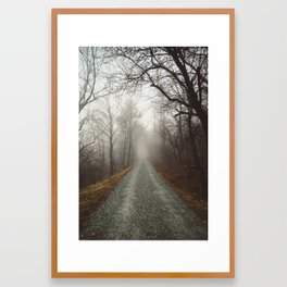 Foggy Mountain Road (Blue Ridge Parkway, NC) Framed Art Print