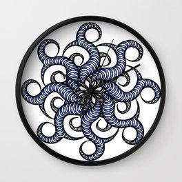 Reverse in blue Wall Clock