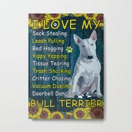 Bull Terrier Bull Terrier Poster Metal Print