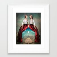 theatre Framed Art Prints featuring Celestial Theatre by Christian Schloe