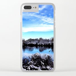 Blue Sky Clear iPhone Case