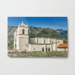 Ancient Chapel at the Outsides of Arequipa, Peru Metal Print