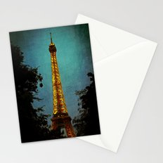 L'Eiffel - Eiffel Tower at Night Stationery Cards