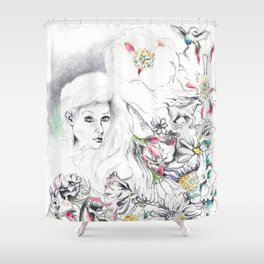 Flowers And Dreamscapes {1}: Colour Shower Curtain