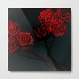 Crimson Bloom Metal Print