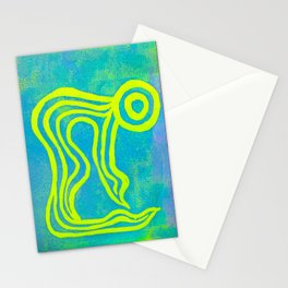 Yoga Art by Gina Lee Ronhovde Stationery Cards