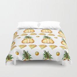 Pineapple dance Duvet Cover