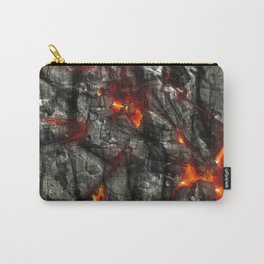 Fiery lava glowing through dark melting stone Carry-All Pouch