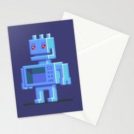 Magnetron pixel robot Stationery Cards