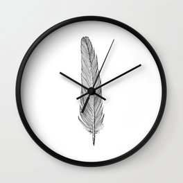 Standing Feather Wall Clock