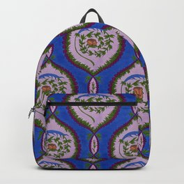 Classic Rose Pattern - intense blue Backpack