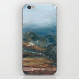 Storm brewing over rural landscape iPhone Skin