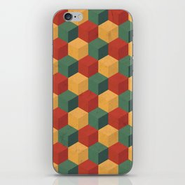 Retro Cubic iPhone Skin