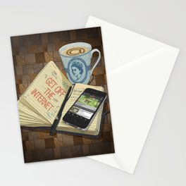 Internet Addict Stationery Cards
