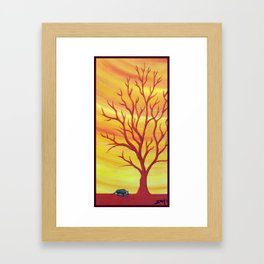 Happy Critter Tree no. 5 Framed Art Print