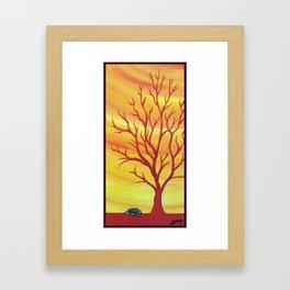 Happy Critter Tree no. 5 Framed Art Print