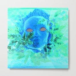Born of the Sea Mask Metal Print