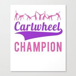 Cartwheel Champion on white Canvas Print