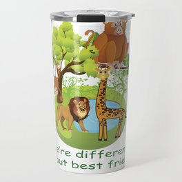 WE ARE DIFFERENT BUT BETTER FRIENDS T-SHIRT Travel Mug