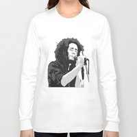 marley Long Sleeve T-shirts featuring Marley Music by Mark Lucas