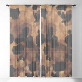 Tortoiseshell Watercolor Sheer Curtain
