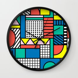 Memphis Color Block Wall Clock