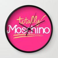 moschino Wall Clocks featuring Totally Moschino by RickyRicardo787