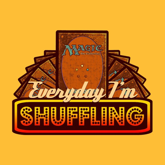 Everyday I'm Shuffling (No Dice Version)  |  Magic The Gathering Duvet Cover