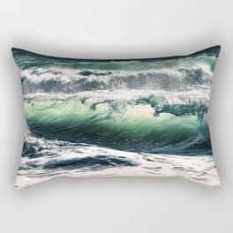 Green Glass Rectangular Pillow