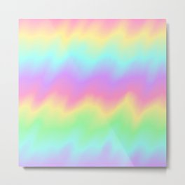 Rainbow Ripples Metal Print