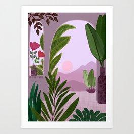 Tropical Morning Art Print