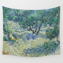 Olive Orchard by Vincent van Gogh Wall Tapestry
