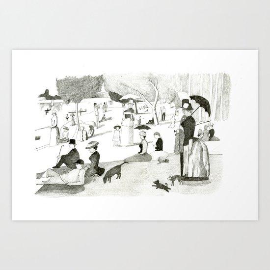 Seurat Sunday Afternoon Art Print