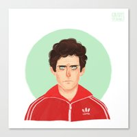 tenenbaum Canvas Prints featuring Chas Tenenbaum by Galaxyspeaking