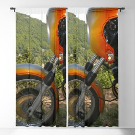 vintage motorbike Blackout Curtain