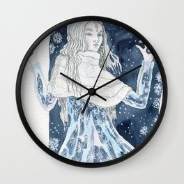 Snow Queen at the window Wall Clock